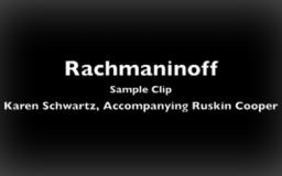 Rachmaninoff Concerto #2, Moderato<br />with Ruskin Cooper